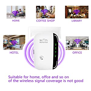 WiFi Extender - Mini WiFi Extender 2.4GHz Band Up to 300 Mbps,Wireless Repeater with WPS Internet Signal Booster,Best Range Network/Compatible with Alexa/Extends WiFi to Smart Home/Alexa Devices (Color: E1, Tamaño: A4)