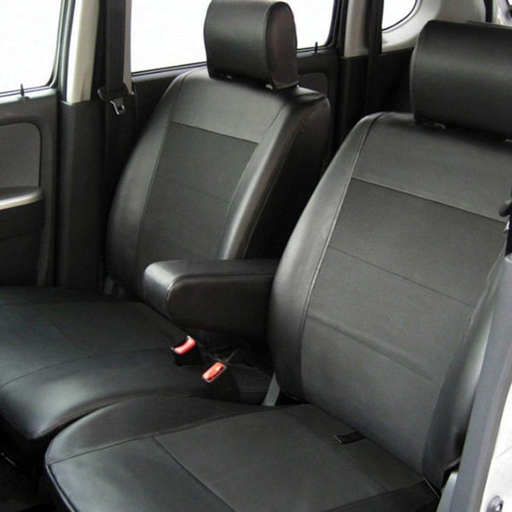 JF3/JF4 NBOX/NBOXカスタム専用シートカバー レザー&パンチング 平成29年9月~ B078K2RDWN   前席:ベンチシート/後席:肘掛なし