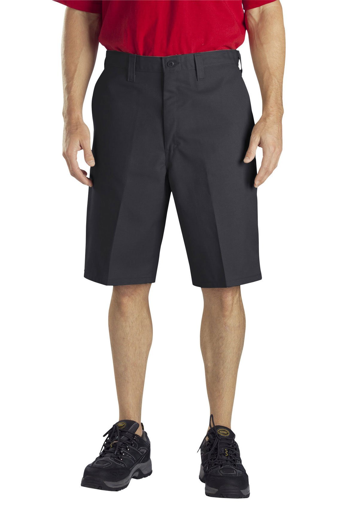 Dickies Occupational Workwear LR303DS 48 Polyester/Cotton Relaxed Fit Men's Industrial Flat Front Short with Button Closure, 48'' Waist Size, 11'' Inseam, Desert Sand