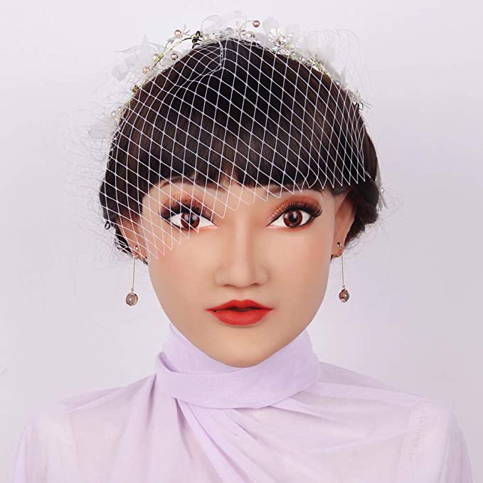SXFYHXY Máscara Realista de Silicona Denature Travesti Drag Queen ...
