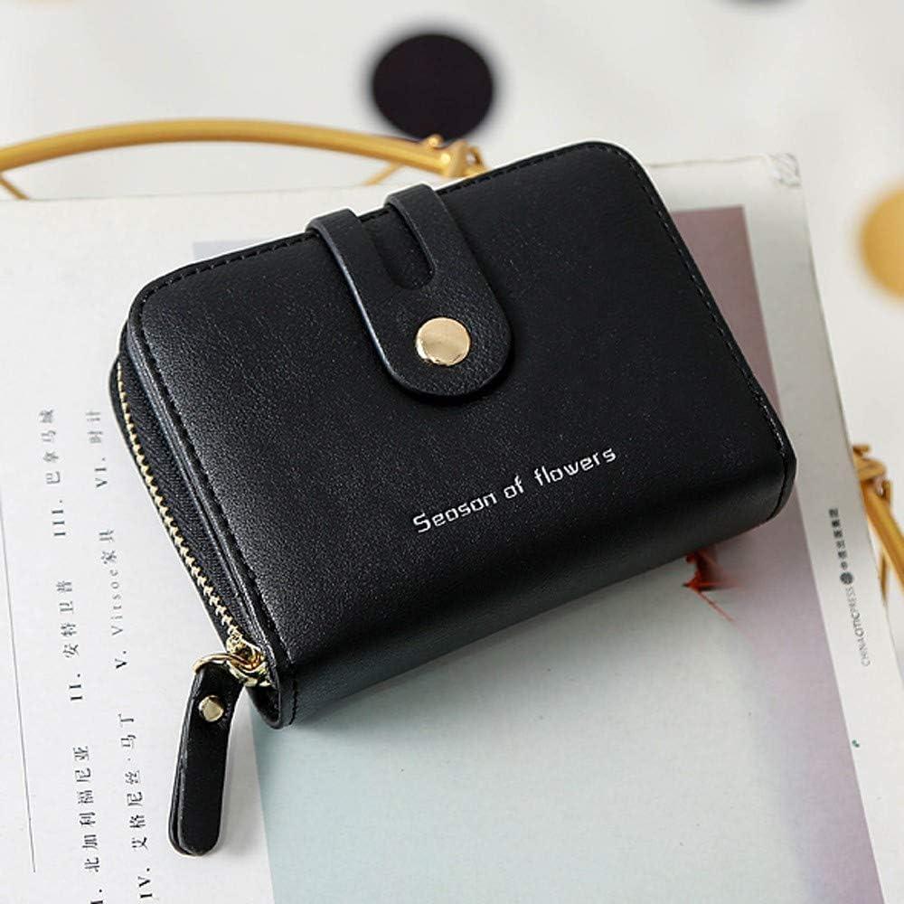 Toamen Cierre De Cremallera De Moda De Mujer Mini Billetera Corta Portatarjetas Monedero Billetera