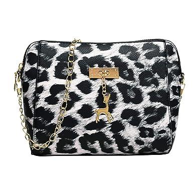 Amazon.com: Moda Mujeres Bolsas, Leopardo Impresión Fawn ...