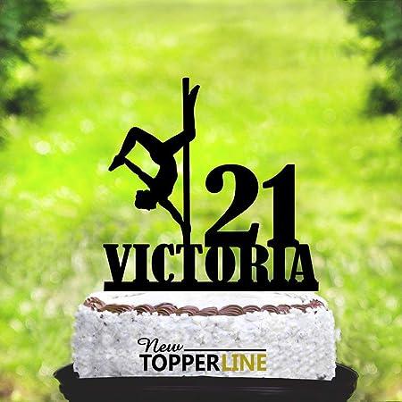 Decoración para tarta con diseño de bailarina de poste para ...