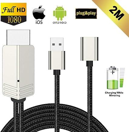 Cable HDMI para teléfonos (2 metersmeters, conector tipo Micro USB ...