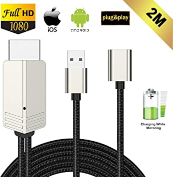 Compatible con iPhone iPad Android Smartphone a HDMI Cable, FAERSI ...