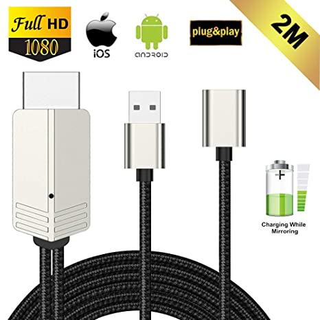 Compatible con iPhone iPad Android Smartphones a HDMI Cable ...