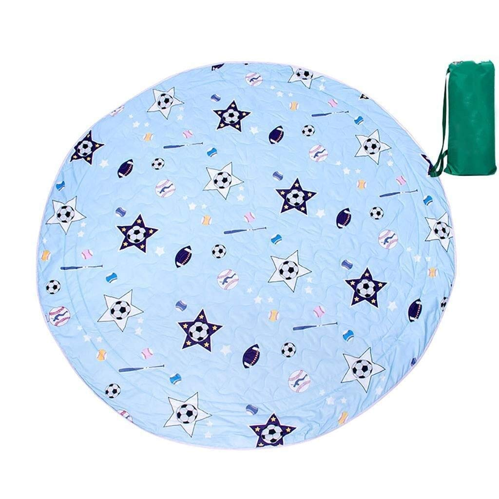 ZKKWLL Picnic Blanket Children's Picnic Blanket Round Oxford Cloth Picnic mat Travel Waterproof Outdoor Camping Tent Carpet Children Crawling mat Beach mat (Color : A) by ZKKWLL