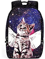 Curry Girl Unisex Cool Cat Pint 3D Travel School Shoulder Daypack Backpack Bags