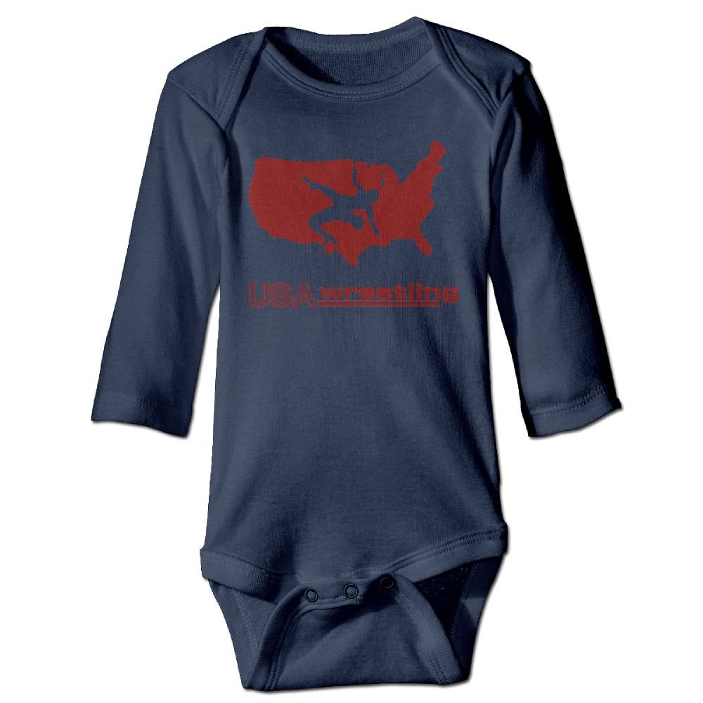 Cute & Baby USA Wrestling Printed Infant Baby Boy Girl Long-Sleeved Jumpsuits Playsuit Outfits