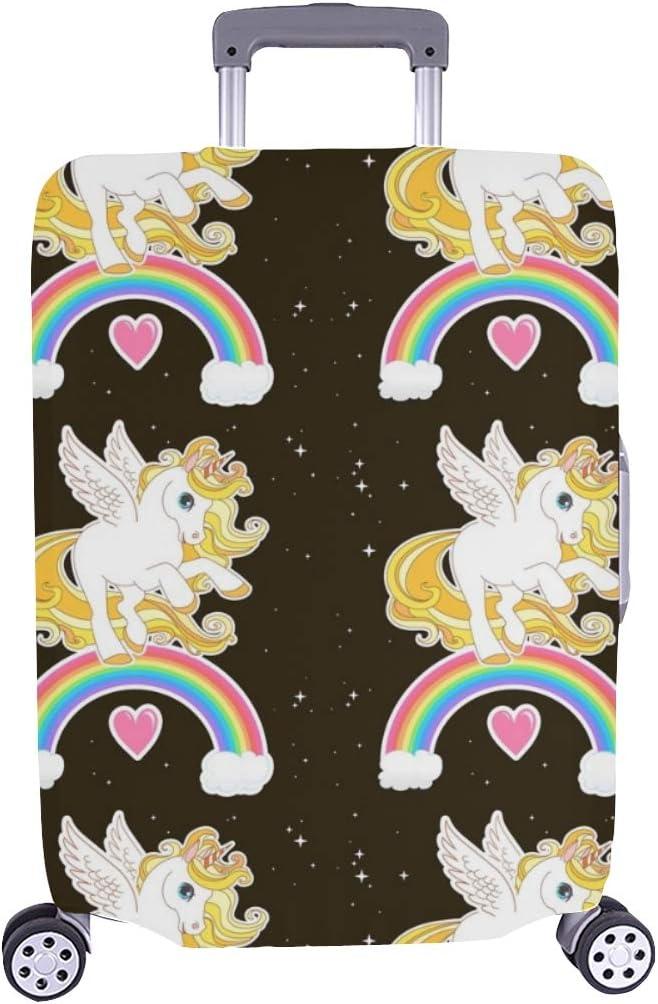 (Solo Cubrir) Unicornio Lindo Ilustración Vectorial Diseño de niños Patrón Maleta Trolley de Viaje Maleta Protectora Cubierta Protectora para de Maleta 28.5 X 20.5 Inch