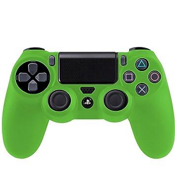 SMARDY Funda Cubierta de Silicona Verde para PS4 Playstation 4 ...
