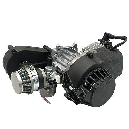 TDPRO 2 Stroke Engine Motor With Gear Box For 47cc 49cc 50cc Mini Pocket Bike Gas