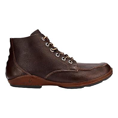 OluKai Men's Ni'o Boot Dark Wood/Rum ...