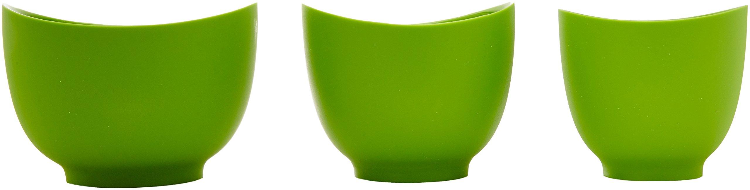iSi Basics Flexible Silicone Mixing Bowls, Set of 3, 1 QT, 1.5 QT, 2 QT, Green (B25104) by iSi North America (Image #2)