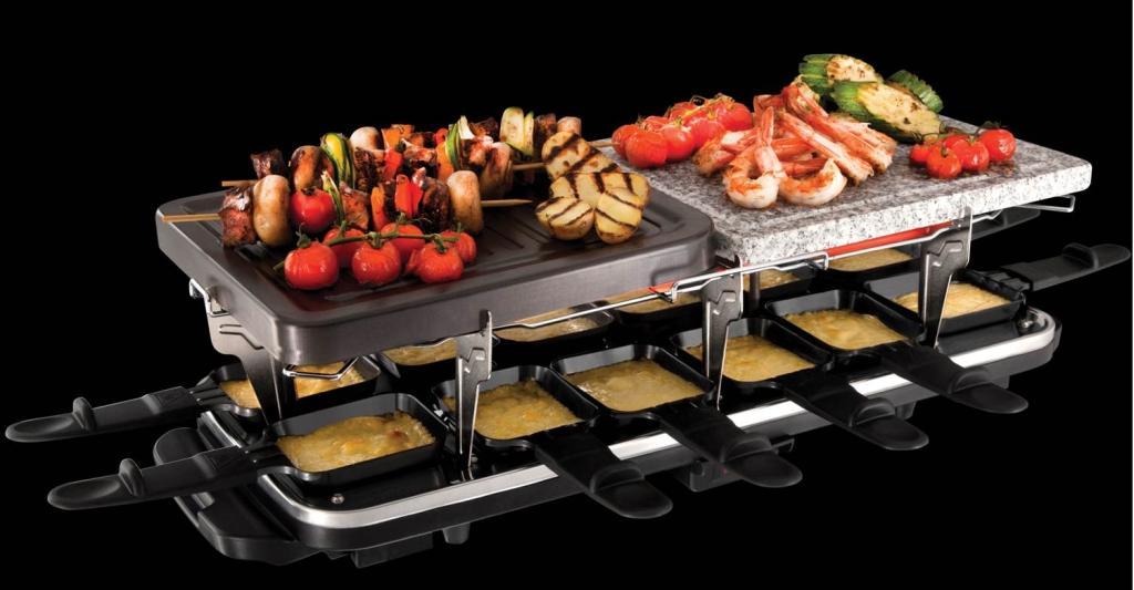 Russell hobbs 19560 56 raclette grill pierre griller multifonctions 3 en 1 12 - Appareil a raclette 10 personnes ...