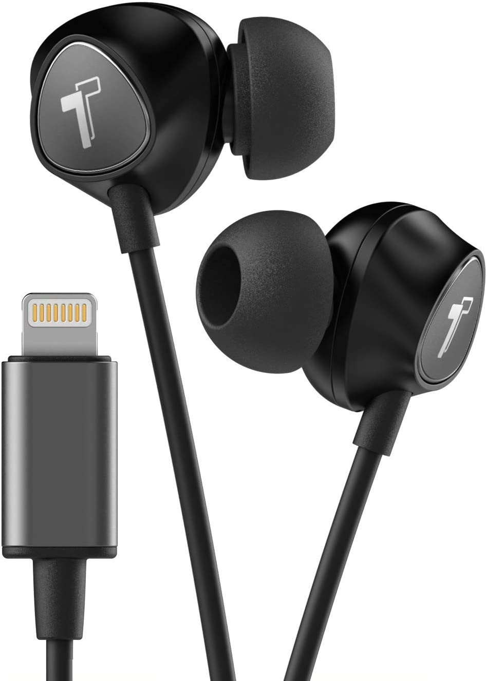 Thore Wired iPhone Headphones with Lightning Connector Earphones - MFi Certified by Apple Earbuds Wired in-Ear Microphone and Volume Remote for iPhone 12 Mini, XR, XS Max, 11, 11 Pro,7,8 Plus (Black)