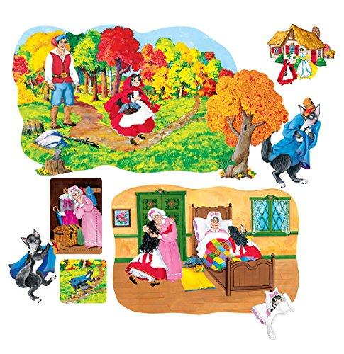 Little Folk Visuals Little Red Riding Hood Precut Flannel/Felt Board Figures, 13 Pieces Set