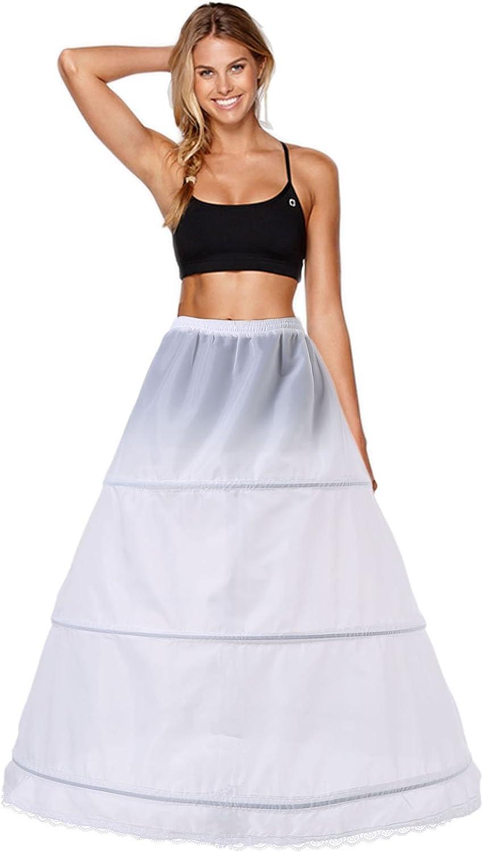 Costume Donna Sottoveste Sottogonna Bianco 34 cm lunghezza peticoat Da Smiffys