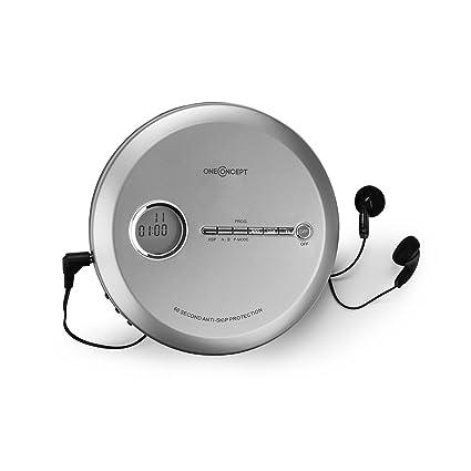CD-R CD CD-RW und MP3-CD /• InEar-Kopfh/örer /• wei/&sz OneConcept CDC 100MP3 /• Discman /• Disc-Player /• CD-Player /• USB-Anschlu/ß /• Bassverst/ärkung /• Anti-Schock-System /• LCD-Anzeige /• Formate