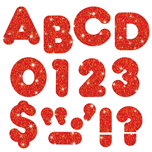 "TREND enterprises, Inc. Red Sparkle 3"" Casual UC Ready Letters -  T-79008"