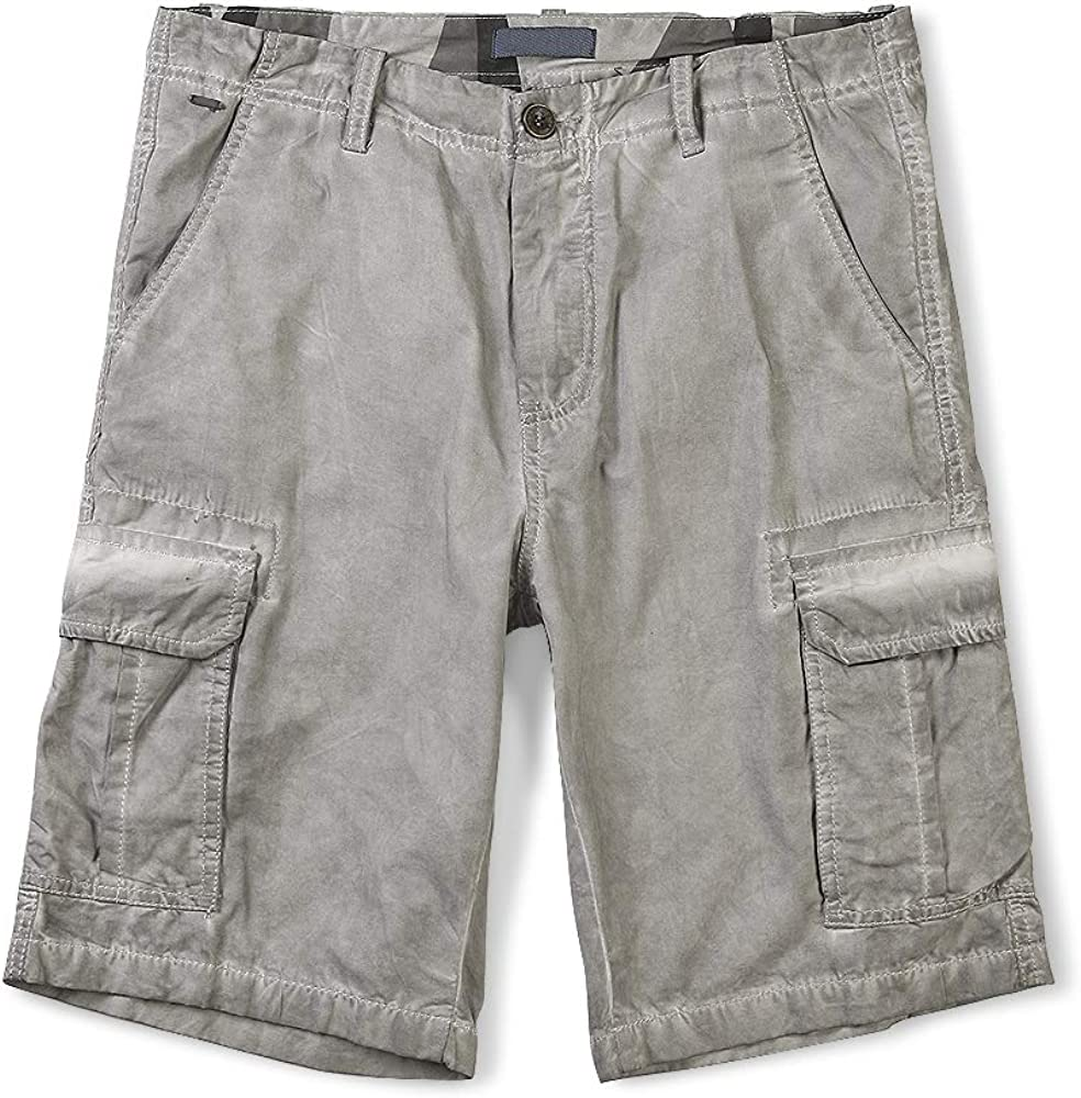 OCHENTA Mens Lightweight Multi Pocket Casual Cargo Shorts