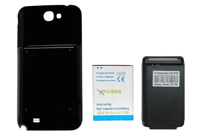 6ea906a8a94 X-Power 6800mAh Batería Extendida con Carcasa Negra+Cargador de Pared con  Entrada USB