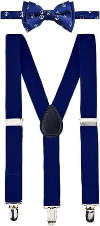 Retreez Classic Anchor Pattern Woven Microfiber Pre-tied Boys Bow Tie