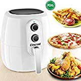 2018 Professional Air Fryer XL 5 Liter, 5.3 Quart, Extra Large Capacity 1800 Watt Hot Airfryer cooker, Dry Fryer Oven Pot, No Oil frying Healthy Delicious Food, Easy Cook for 7 People (White)