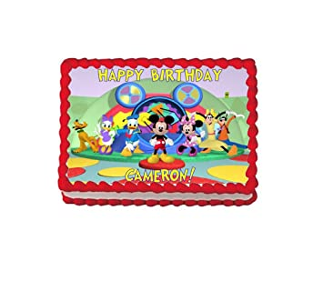 Mickey Mouse Clubhouse Edible Cake Topper DecorationMickey