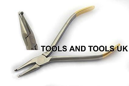 Cómo Howe TC recto alicates de utilidad de anatómica dental chapado en oro de media CE