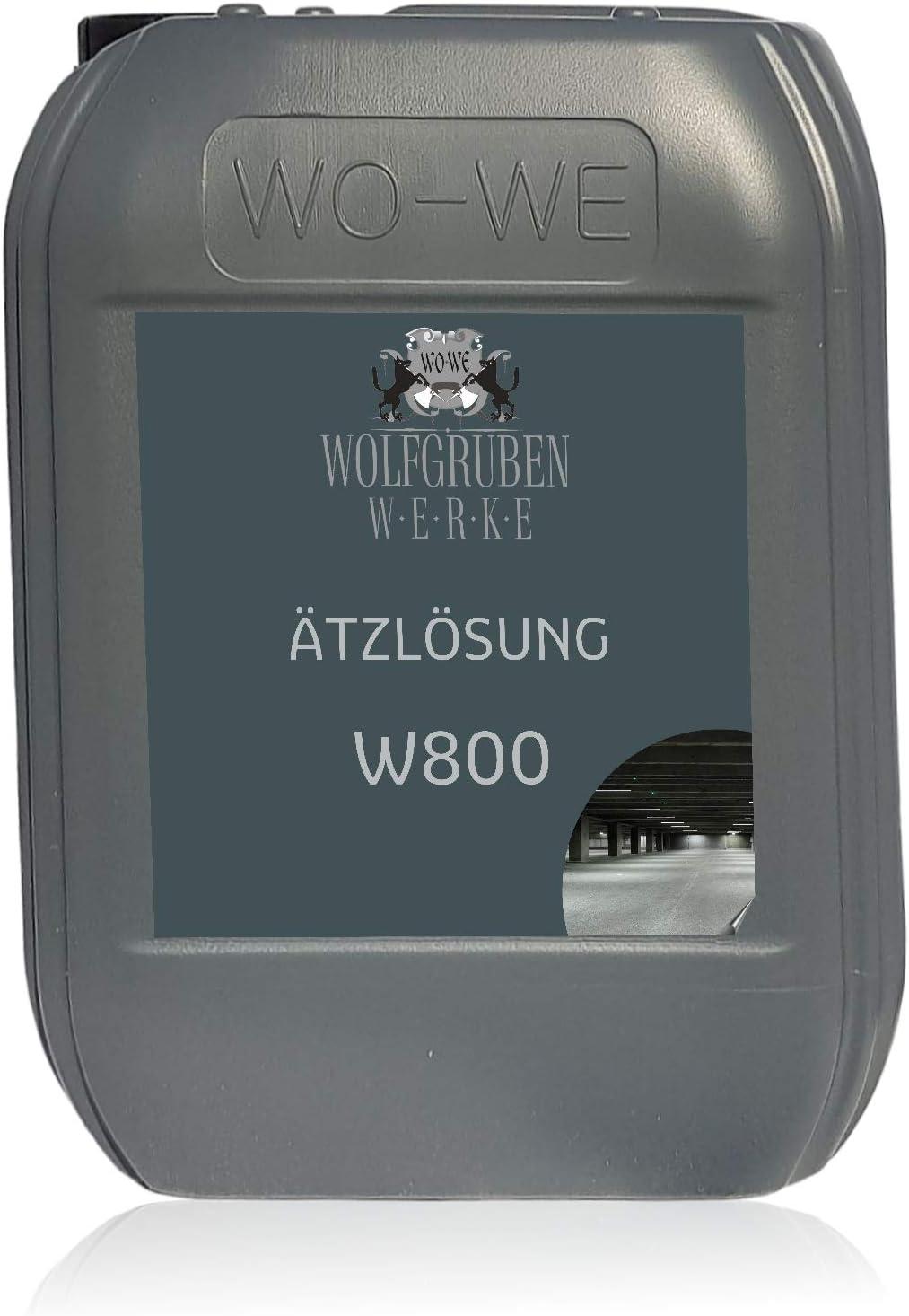 Solución ácida W800 Preparación de sustrato para pintura de suelo y resina epoxi 10L
