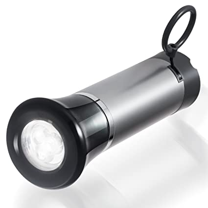 Bomeon dynamo flashlight self powered led torch with power generating pull string for hiking camping indoor