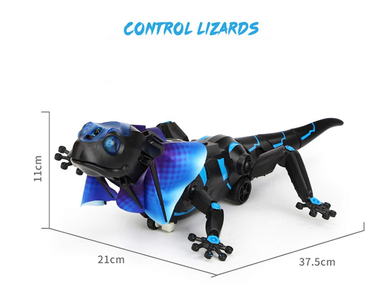 SOWOFA RC Animals Remote Controls Infrared Sensing Lizard Realistic Toy Moving Walking Color Change w/ Sound Lighting Electric Pet Joke Toys by SOWOFA (Image #1)