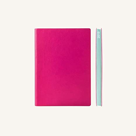 2019 Daily Planner Calendar by Daycraft Signature - A6 Size Magenta (D631M) - 5.88 x 4.13 in.