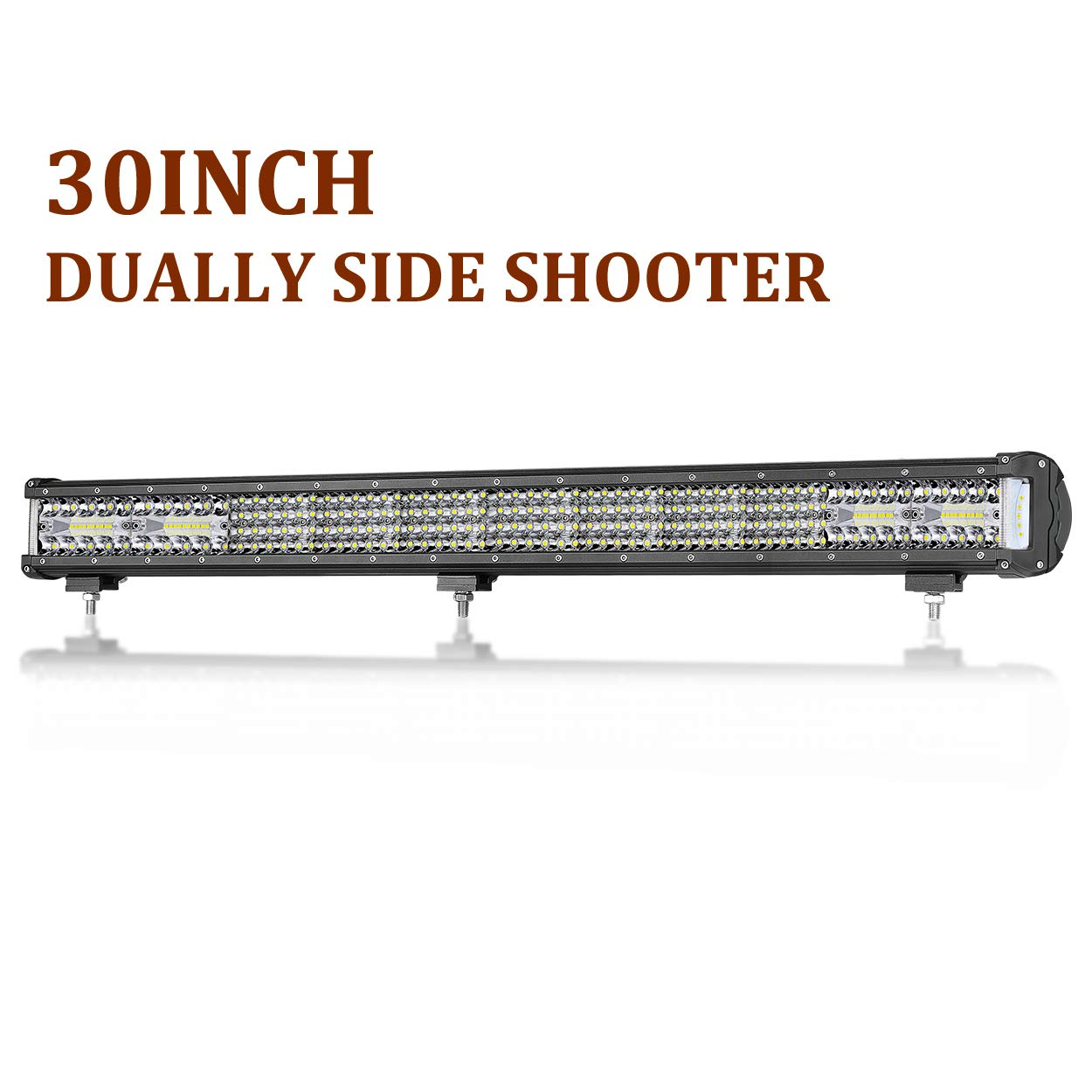 Side Shooter LED Lights, SWATOW 4x4 2pcs 120W 4 inch LED Pods Side Shot LED Spotlight Off Road Driving Lights Triple Row LED Work Lights Flood Combo Lighting for ATV Jeep A Pillar Truck Boat