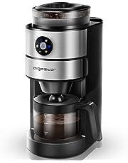 Aigostar Kaffa 30LHX - 2 en 1 Cafetera eléctrica con molinillo integrado. 680-820 W, 5 niveles de molienda. Sistema de goteo, capacidad 2-6 tazas. Función mantener caliente. Libre de BPA.
