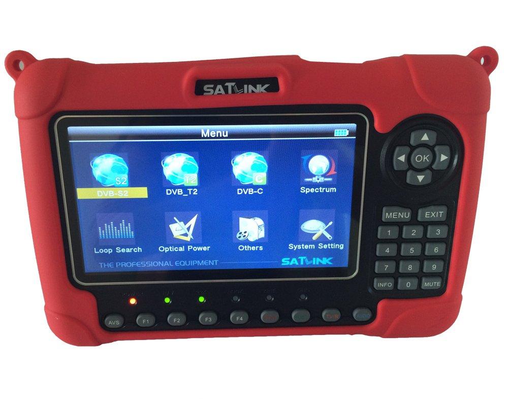 SATLINK WS-6980 DVB-S2/C/T2 Combo Optical Power Detection Constellation Analyzer/ Spectrum Analyzer Digital Satellite Finder Meter by SatLink