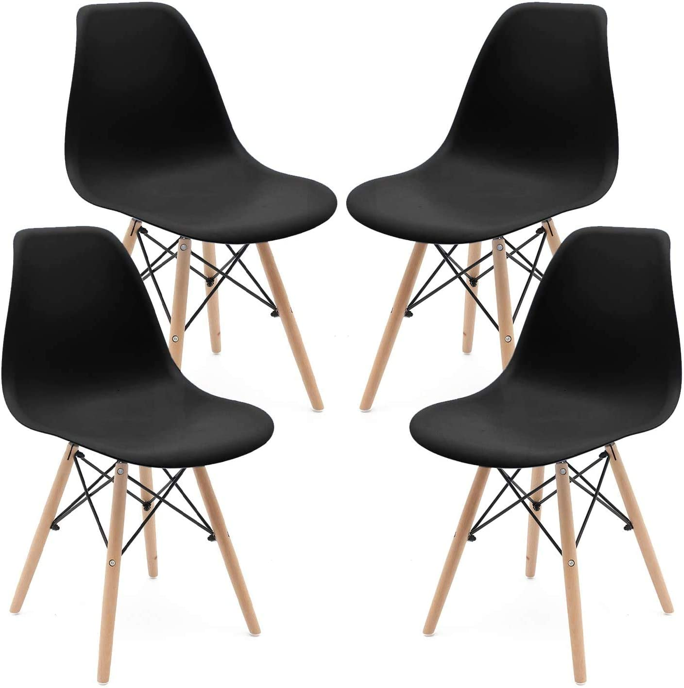 Set of 4 Plastic Dining Chair