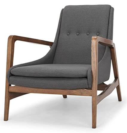 Amazon.com: Nuevo Enzo Occasional Chair in Matte Ash Gray ...