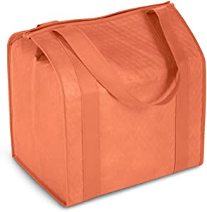 Hannah Smart Large Capacity Heavy Duty Insulated Shopping Bag (1, Orange)