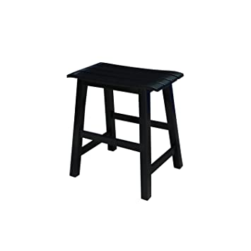 International Concepts Slat Seat Stool 18-Inch Seat Height Black  sc 1 st  Amazon.com : 18 inch saddle seat stool - islam-shia.org