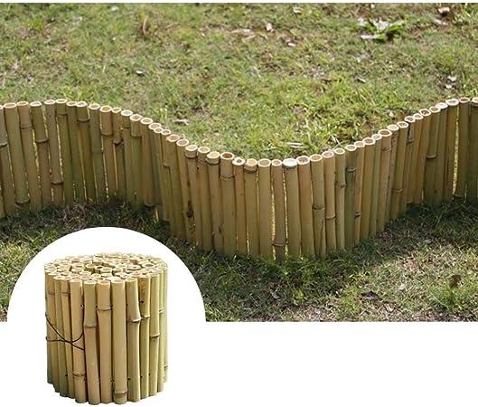 GZHENH-Valla de Madera Protección del Medio Ambiente Cerca De Césped Barandilla De Niños Patio Borde del Jardín Rollo De Madera En Forma De Flor, 3 Tamaños (Color : Green, Size : 100x15cm):
