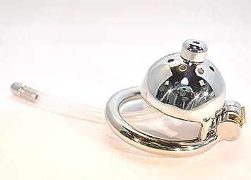 Jaula de castidad con dilatador uretral de longitud ajustable ...