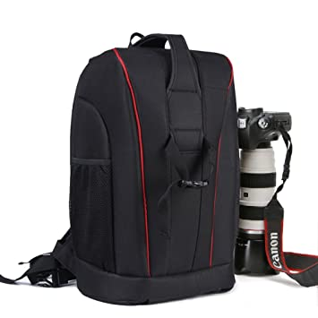 4fdce8ee9a TOP-MAX Large DSLR Camera Bag Backpack  Amazon.co.uk  Camera   Photo