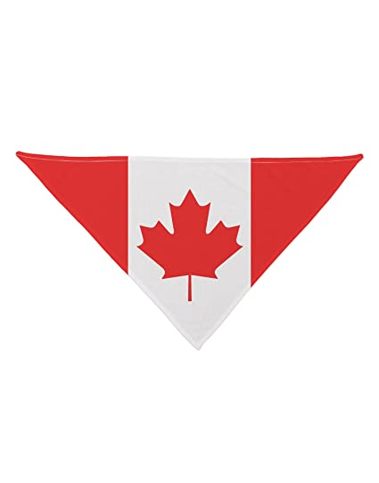 Amazoncom Tooloud Canadian Flag All Over Printed White Dog Bandana