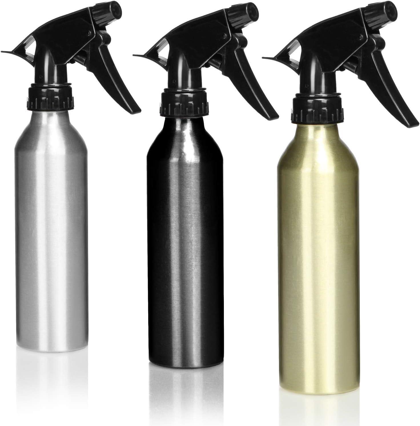 com-four® 3X pulverizador Fino de Metal - pulverizador de Flores - Botella de Spray - pulverizador de Agua - pulverizador de jardín de 250 ml [la selección varía]