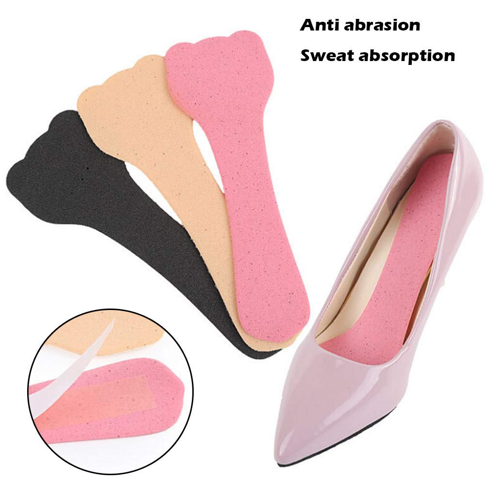 Pinleg Anti-wear Sticker Anti-Skid Breathable and Sweat-Absorbing Sponge Insole Safe Stylish Sole Protection for Heels Flats (Khaki)