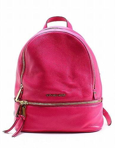 a2714de5f00376 MICHAEL Michael Kors Rhea Medium Leather Backpack in Ultra Pink ...