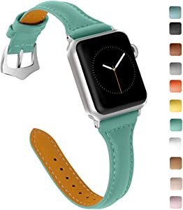 OULUCCI Compatible Apple Watch Band 38mm 40mm, Top Grain Leather Band Replacement Strap for iWatch Series 6, SE, Series 5, Series 4,Series 3,Series 2,Series 1,Sport, Edition