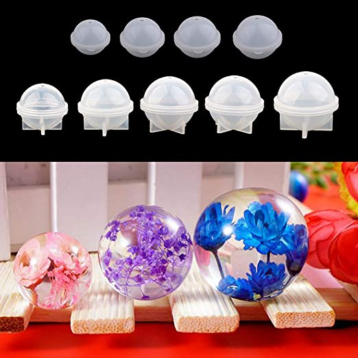 DIY Large Sphere Ball Silicone Mold Mould for Resin Casting 70//80//90//100mm